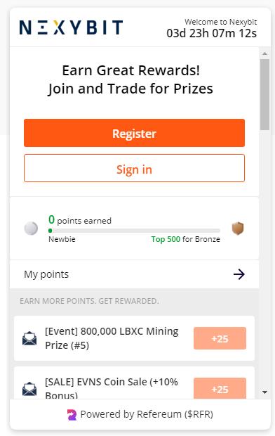 nexybit регистрация